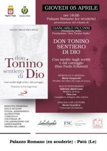 Giancarlo Piccinni - don Tonino sentiero di Dio, Con inediti dagli scritti e dal carteggio, Presentazione