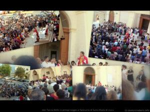don Tonino Bello in pellegrinaggio al Santuario di Santa Maria di Leuca